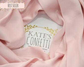 212 Soft Pink Satin Silk Fabric, Wedding Dress Fabric, Soft Luxury Silk Fabric, Lining Silk Material, Wholesale Silk, Tutu Fabric-1.50m wide
