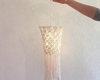 Awan - Macramé façon lanterne lumineuse