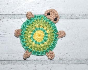 1 turtle - turtle - Turtel - crochet - application
