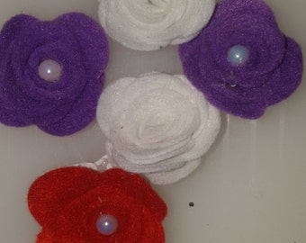 felt flowers 30 pieces