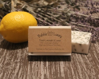 French Lavender and Lemon Shea Butter Soap, Shea Butter Soap