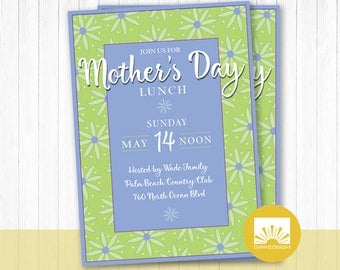 Mother's Day Lunch, Mother's Day Invite, digital invitation, printable invite