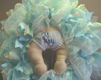 It's a Boy Baby Wreath