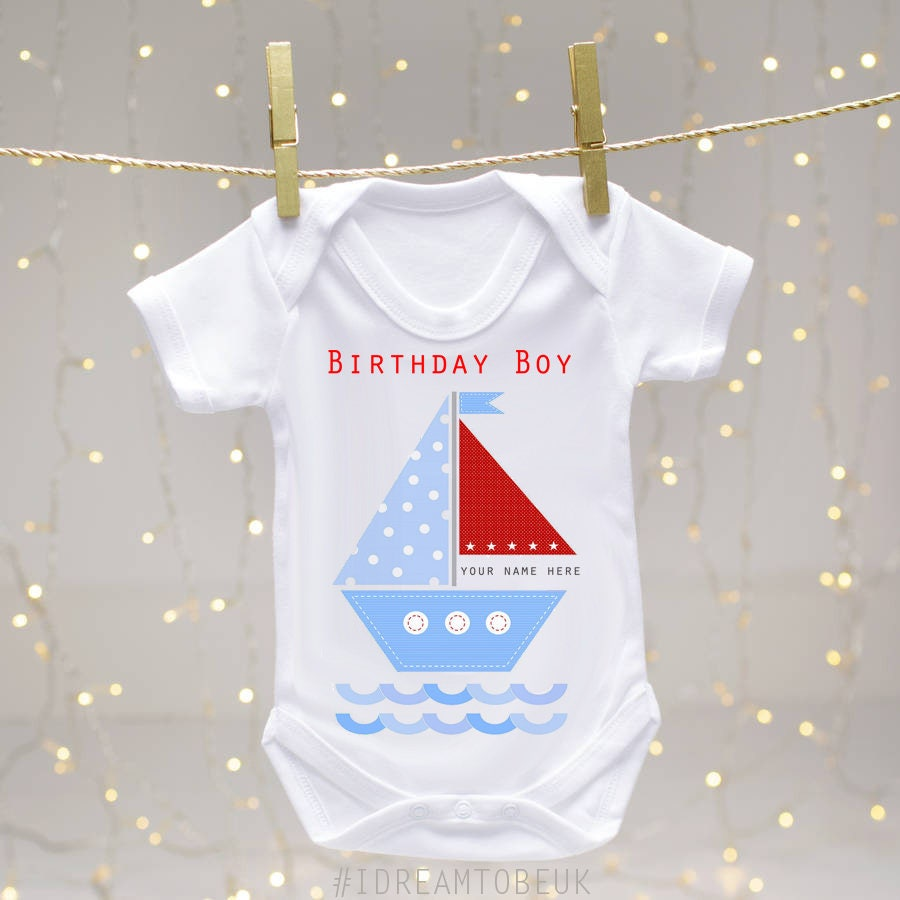 Personalised Birthday Baby Vest