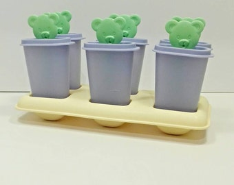 Tupperware ice forms with teddy bears kitchenware kids children cooking playset
