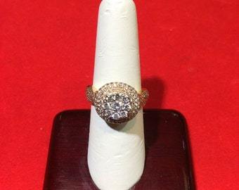 Rose, White or Yellow 14k gold Genuine Diamond 1.5 ctw vintage style Ring