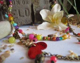 Crazy Colorful Rustic Necklace