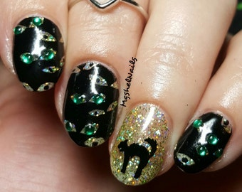Scaredy Cat Nail Decal