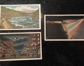 4 vintage postcards of Niagara Falls