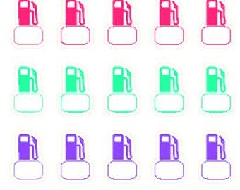 Petrol/Gas // Erin Condren // Personal Filofax // Stickers //Planner