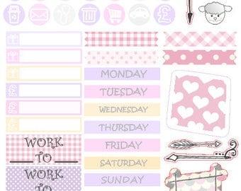 SPRING FULL SET // Stickers // Happy Planner // Erin Condren // Personal