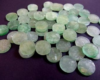 GREEN AVENTURINE One Sided Polished Round Disks 12 mm diameter Round/ Flat Slices /Flat Disc/, Super Quality gems for Jewellery
