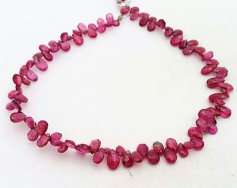 """Natural Pink TOURMALINE faceted pear shaped beads ,3x5 mm -- 4x6 mm ,9""""strand[E0298] very good quality"""