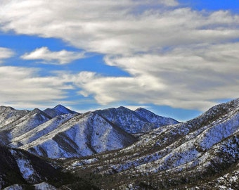 Western Photography SD > The Black Range in the Gila New Mexico Snow Covered White Mountains Scenery Landscape