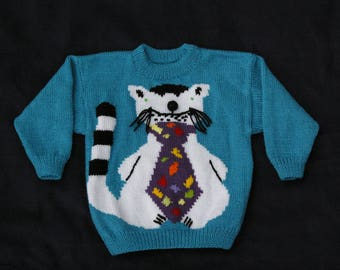Child sweater. Knitted by hand.