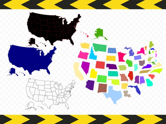 USA Map SVG Files For Cricut Silhouette United States Map - Us map 50 states