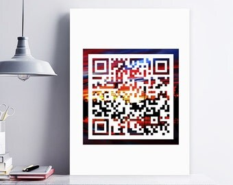 QR Code Prints, Personal Qr, Request For Individual QR Code Download, Individual text, Personalized Secret Message QR Code,Nature Wall Decor
