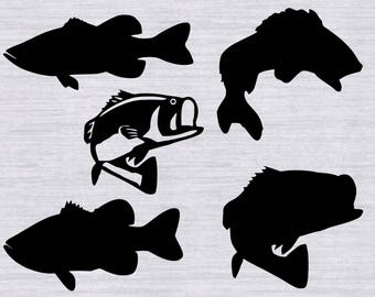 Fishing SVG Bass SVG cutting file for silhouette svg file