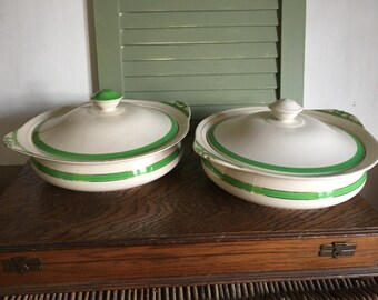 Queens Green Soho Pottery Lidded Dishes