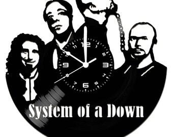 Vinyl disc clock SYSTEM OF DOWN (handmade)