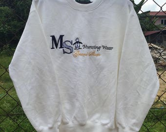 RARE Grand slam munsing wear big logo embroidered Sweatshirts