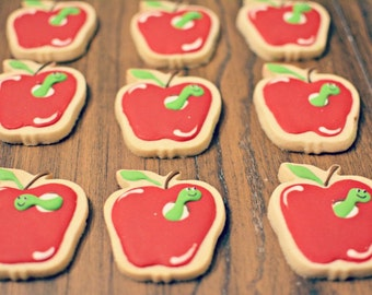 Apple and Worm Cookies