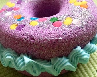 Giant Donut Fizziez - Donut Bath Bomb - Donut Bath Fizzy - Doughnut Bath Bomb - Donut Bath Fizzy - Vanilla Bath Bomb - Cupcake Bath Bomb