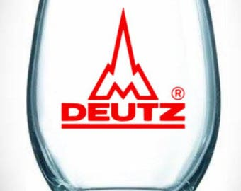 duetz/tractors/green/rocket/wine/glass/collection/farm/farmer/gift/female/