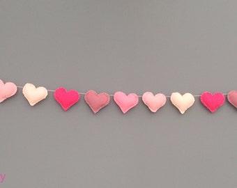 Small Heart Felt Nursery Garland