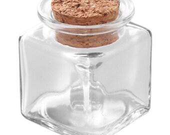 1 Pc Mini Square Glass Bottle