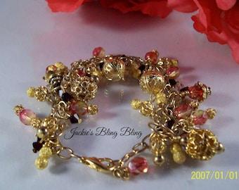 Women's Golden Charm Bracelet