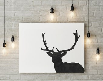 Black Deer || A4 Printables