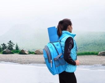 Yoga Mat bag - Yoga Backpack - Multipurpose Fitness backpack - YIX bag blue