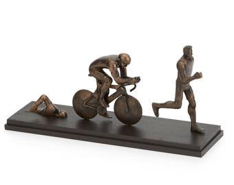 Male Triathlete | Triathlon | Athlete Gift | Triathlete Coach gift | Triathlete | Triathlon Decor | Triathlon Art | Fathers Day |