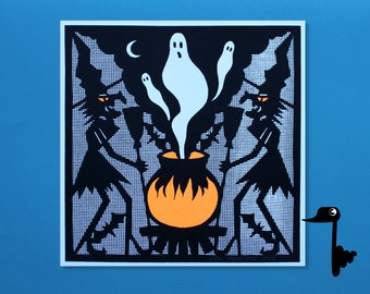 Halloween Witchcraft - 2 Color Screenprint