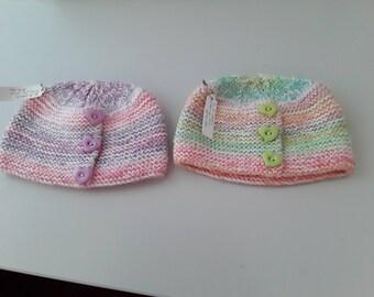 Handknitted children's hats. Pure wool or merino