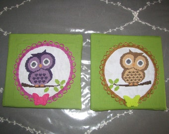 Canvas paintings owls