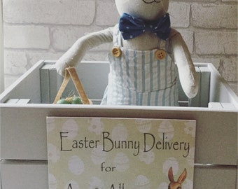 Wooden Personalised Easter Crate / box