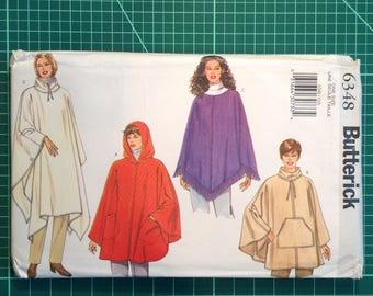 Uncut Sewing Pattern - Butterick 6348 Misses' poncho, cape