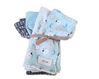 Snuggly Flannel Burp Cloths - set of 4