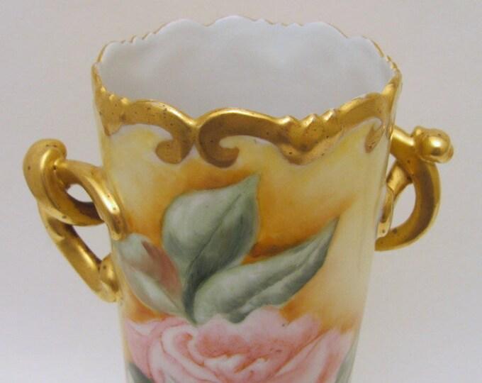 Stunning And Rare 1900 P.H. Leonard Vienna Limoges Vase