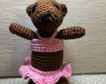Mini Handmade Crocheted Teddy Bear