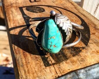 Vintage turquoise cuff bracelet - SOLD