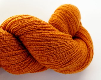 92/8% Merino Wool/Cashmere Blend Apricot Sunrise Heavy Lace Weight Recycled Yarn