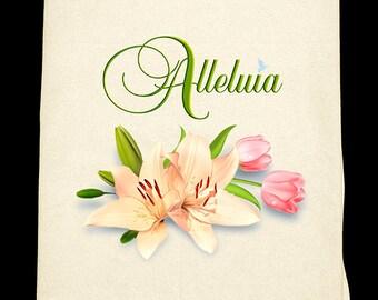 Alleluia Easter Flour Sack towel