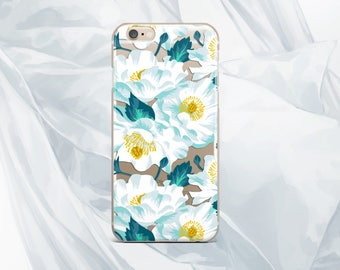 Flowers iPhone 6 Case Floral iPhone 7 Plus case Samsung S8 Plus case iPhone 6S plus case clear case iPhone 5 SE case Samsung S6 edge case