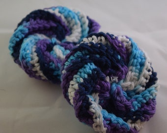 Face Scrubbies Set - Purple, Blue, and White