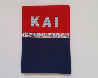 U notebook covers anchor boat rescue ring red-blue / manual work