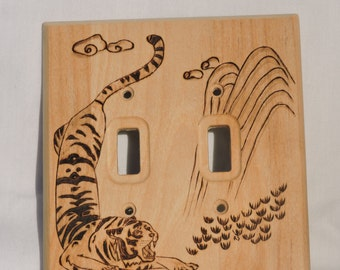 Tiger light switch cover