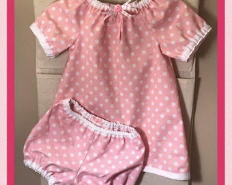 Handmade Peasant Dress with Matching Bloomers (example)
